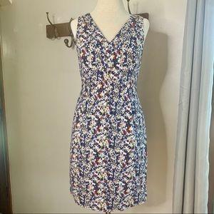 Brooks Brothers V-neck Floral Sheath Dress Sz 6